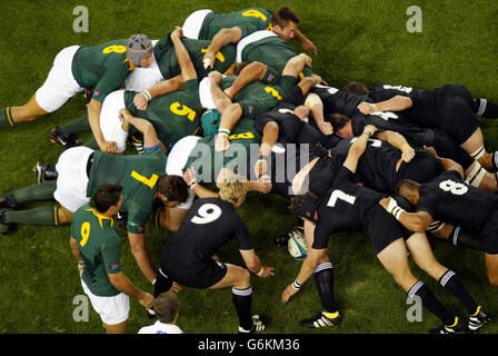 Rugby Union - World Cup 2003 - South Africa v New Zealand - Australia - Stock Photo