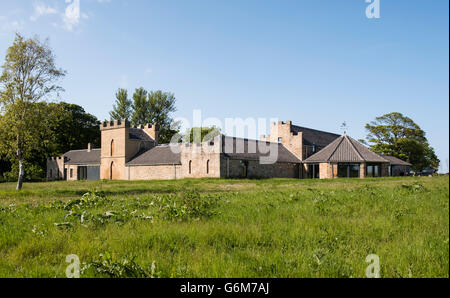 Exterior of Kingsbarns Scotch whisky distillery at St Andrews Scotland, united Kingdom - Stock Photo