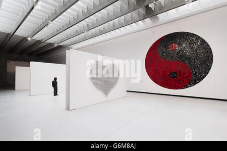 Interior of MAXXI National Centre of Contemporary Arts designed by Zaha Hadid in Rome, Italy - Stock Photo