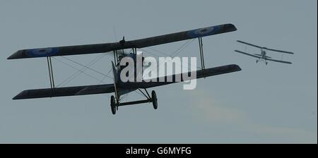 Malcolm Paul in Tiger Moth - Stock Photo