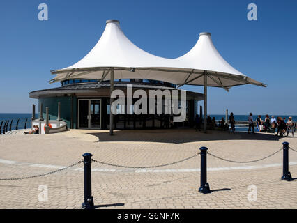 New Bandstand, Aberystwyth seafront promenade, Wales. - Stock Photo