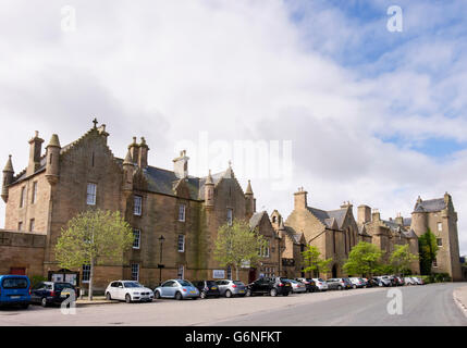 Dornoch Jail and Castle Hotel (former Bishop's Palace). Royal Burgh of Dornoch, Sutherland, Highland region, Scotland, - Stock Photo