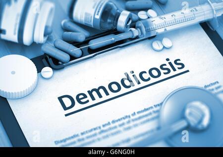 Demodicosis. Medical Concept. - Stock Photo