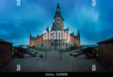 Kronborg Castle. Kronborg i located in Helsingor, Denmark - Stock Photo