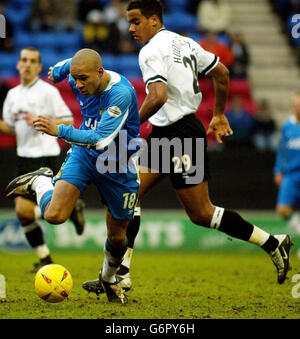 Wigan Athletic v Derby County - Stock Photo