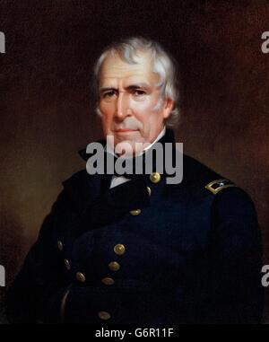 Zachary Taylor. Portrait of the 12th US President Zachary Taylor (1784-1850) by James Reid Lambdin, 1848 - Stock Photo