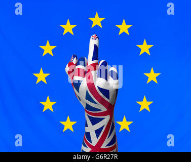 concept image about uk leaving europe, 3d illustration - Stock Photo