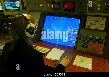 Air traffic controller Glasgow - Stock Photo