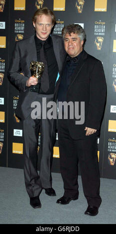 Bettany & Almodovar ORANGE BAFTAS - Stock Photo