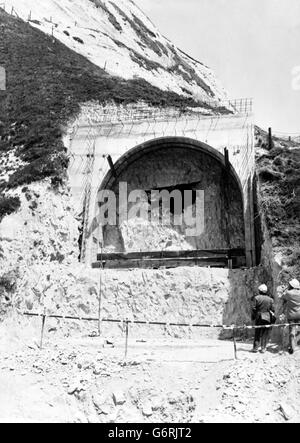 Channel Tunnel - Road Tunnel - Shakespeare Cliff, Dover - 1974 - Stock Photo