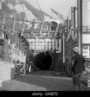 Channel Tunnel - Shakespeare Cliff - Dover - Stock Photo