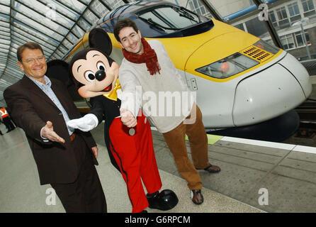 Disney Eurostar train - Stock Photo