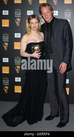 Renee Zellweger ORANGE BAFTAS - Stock Photo