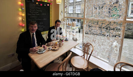George Osborne in West Yorkshire - Stock Photo