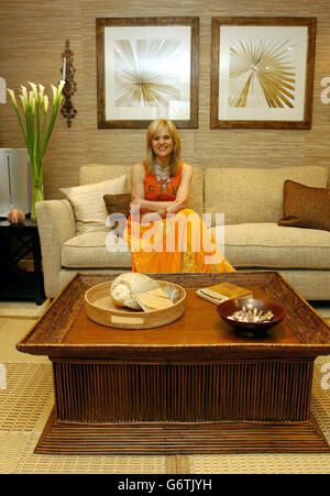 Linda Barker at home; Linda Barker Ideal Home show - Stock Photo