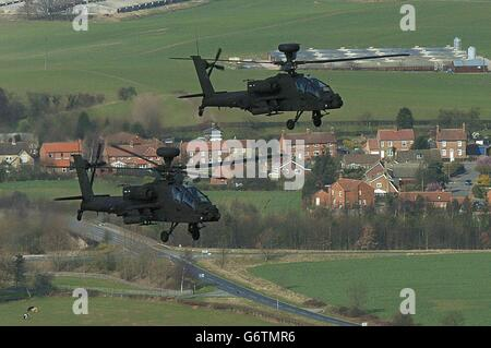 Apache AH Mk1 helicopters - Stock Photo