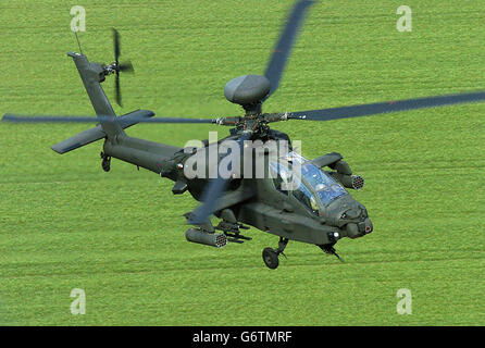 Aviation - Apache AH Mk1 Helicopters - Dishforth Airfield - Stock Photo