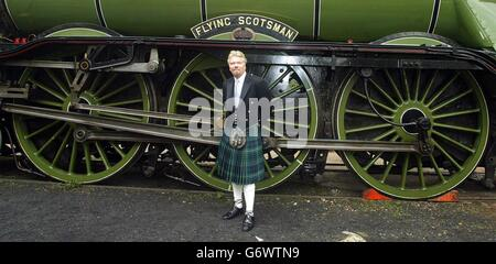 The Flying Scotsman to stay in the Uk - Stock Photo