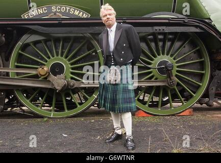 Sir Richard Branson Flying Scotsman - Stock Photo
