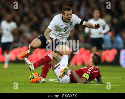 Soccer - International Friendly - England v Denmark - Wembley Stadium - Stock Photo