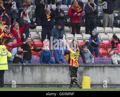 Soccer - Scottish Premier League - Partick Thistle v Hibernian - Firhill Stadium - Stock Photo