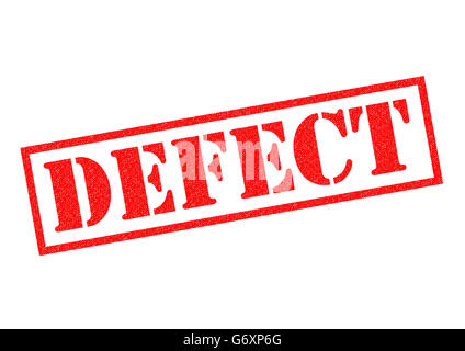 DEFECT red Rubber Stamp over a white background. - Stock Photo