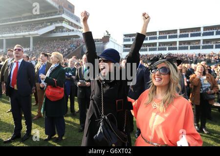 Horse Racing - 2014 Cheltenham Festival -  Cheltenham Gold Cup Day - Cheltenham Racecourse - Stock Photo