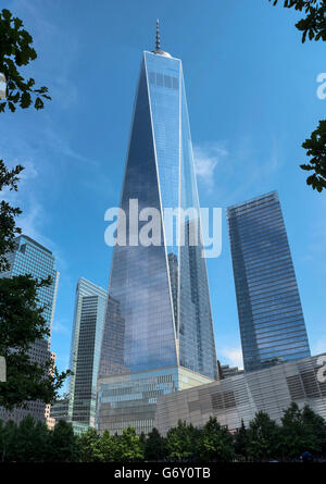 View on One World Trade Center, New York, New York State , Lower Manhattan, USA - Stock Photo