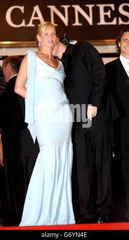 Quentin Tarantino and Uma Thurman 57th Cannes Film Festival - Stock Photo