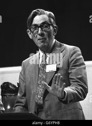 TUC general secretary Mr Len Murray - Stock Photo