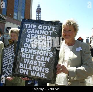 Blackpool Pensioners Protest - Stock Photo