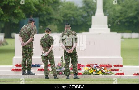 D-Day British Soldiers - Stock Photo