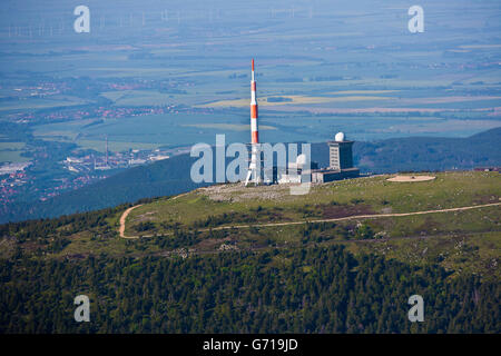 aerial view summit of brocken mountain 1141 2 m above sea level stock photo royalty free. Black Bedroom Furniture Sets. Home Design Ideas
