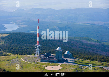 aerial view summit of brocken mountain 1141 2 m above sea level stock photo 77890345 alamy. Black Bedroom Furniture Sets. Home Design Ideas