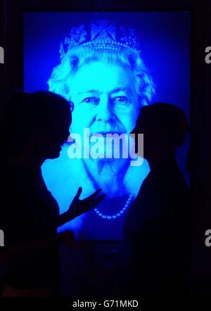 Queen Hologram - Stock Photo