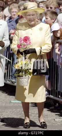 The Queen visits Forfar - Stock Photo