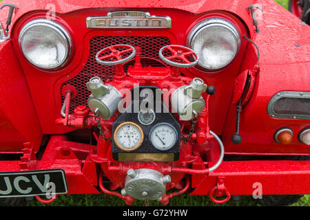 The Hhdrant and pump on the front of an Austin Gipsy Fire Engine - Stock Photo