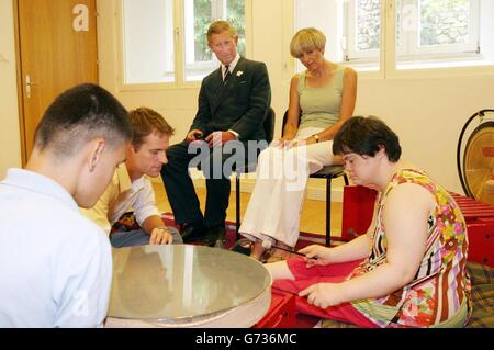 Prince of Wales Mostar visit - Stock Photo