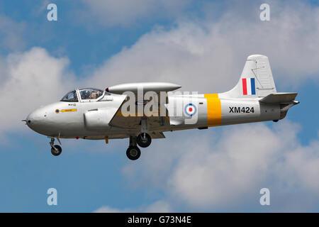 Hunting P-84 Jet Provost G-BWDS - Stock Photo