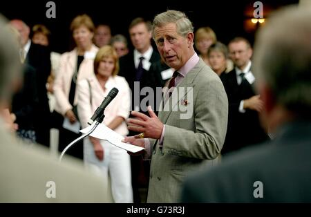 The Prince of Wales speaks to headteachers - Stock Photo