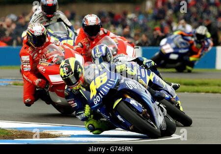 Valentino Rossi Moto GP British Grand Prix - Stock Photo