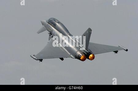 Eurofighter Farnborough Air show - Stock Photo