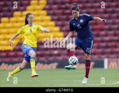 Soccer - FIFA Women's World Cup Canada 2015 Qualifier - Group 4 - Scotland v Sweden - Fir Park - Stock Photo