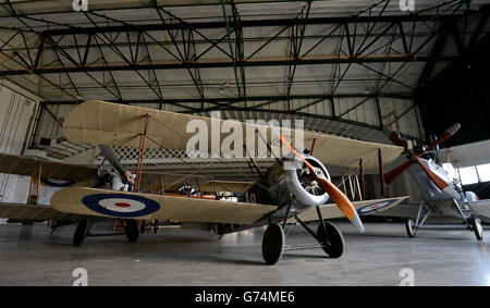 First World War In The Air at the RAF Musuem - London - Stock Photo