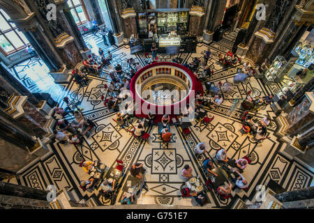 Cafe inside the Kunsthistorisches Museum or Museum of Art History, Vienna, Austria - Stock Photo