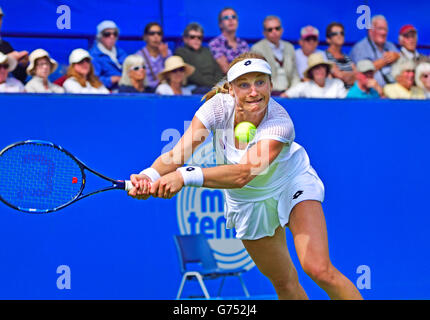 Ekaterina Makarova (Russia) at the Aegon International, Eastbourne, 21st June 2016. - Stock Photo
