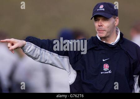 England Rugby Coach Clive Woodward - Stock Photo