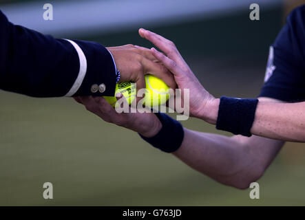 Tennis - 2014 Wimbledon Championships - Day Nine - The All England Lawn Tennis and Croquet Club - Stock Photo