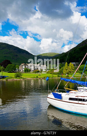 The Inn on the Lake, Glenridding, Lake District National Park, Cumbria, England UK - Stock Photo
