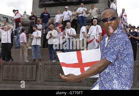 England Fans Celebrating - Stock Photo